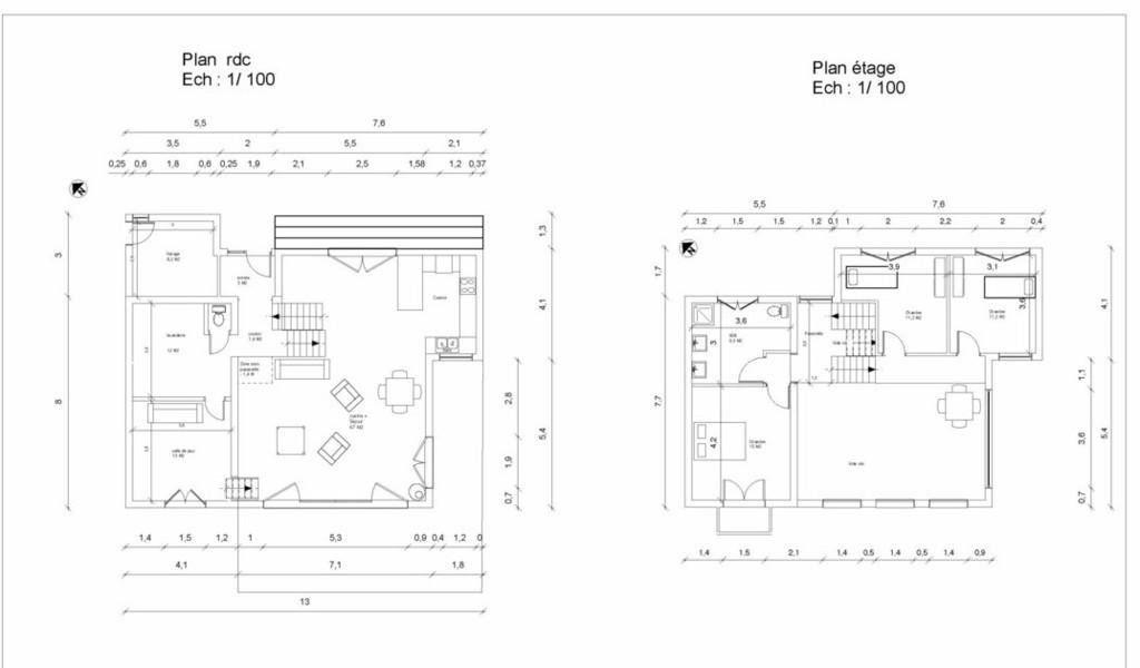 Dessinateur Batiment Plan Maison Ossature Bois Permis De